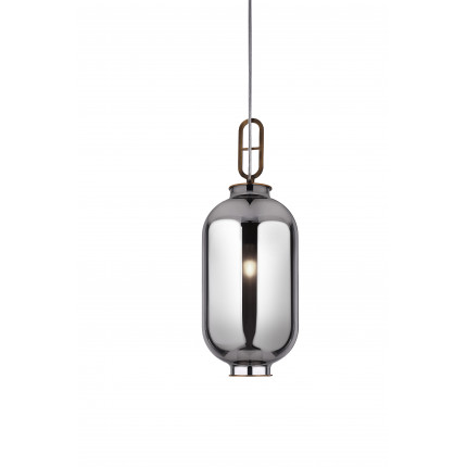 Lampa wisząca lustrzana srebrna mała MHL0-36