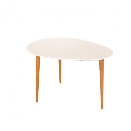 Biały stolik kawowy z bukowymi nogami MHS2-28
