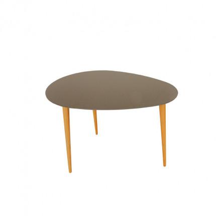 Szary stolik kawowy z bukowymi nogami MHS2-29