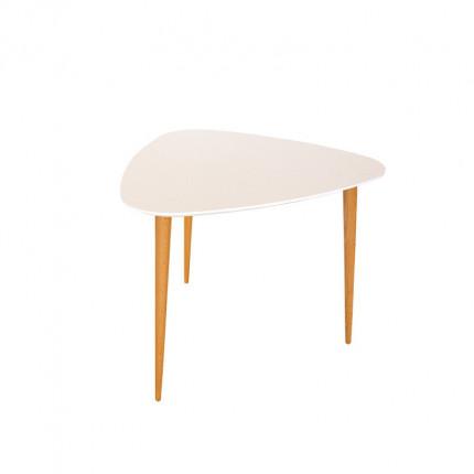 Biały stolik kawowy z bukowymi nogami MHS2-30