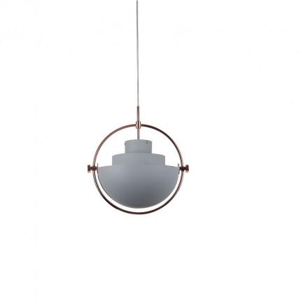 Lampa wisząca szara glamour MHL0-47