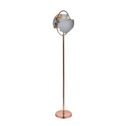 Lampa podłogowa szara glamour MHL0-49
