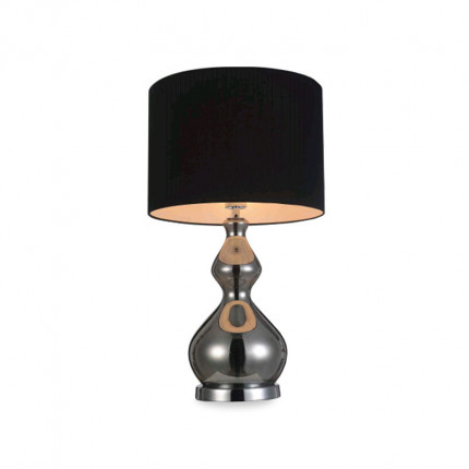 Lampa stołowa srebrna glamour MHL0-72