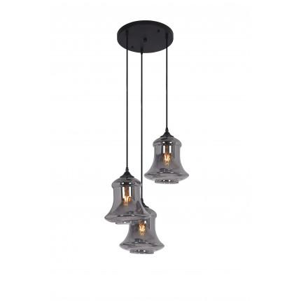 Lampa wisząca potrójna srebrna Dubaj MHL0-75