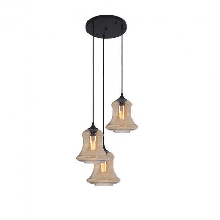 Lampa wisząca potrójna złota Dubaj MHL0-76