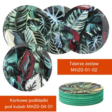 Zestaw: talerze i podstawki pod kubki MHZ1-00-12