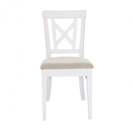 Drewniane białe krzesło bukowe MHK0-11