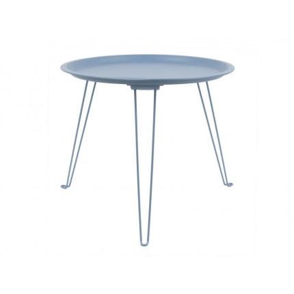 Niebieski metalowy stolik składany MHS2-01