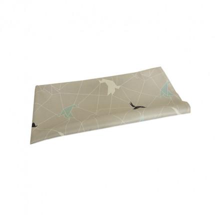 Bieżnik z motywem origami beżowy MHA0-03-24
