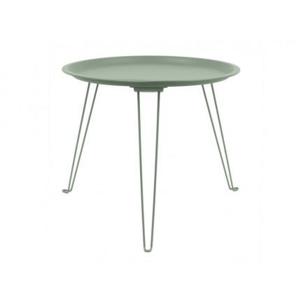 Zielony metalowy stolik składany MHS2-02