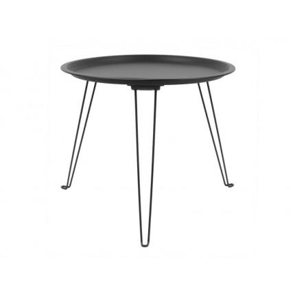 Czarny metalowy stolik składany MHS2-03