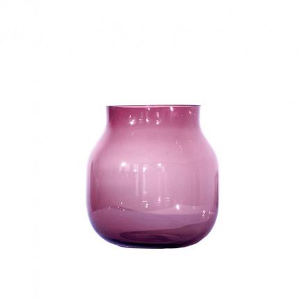 Ręcznie robiony fioletowy szklany wazon owalny MHD0-01-16