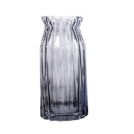 Ręcznie robiony szklany szary wazon MHD0-01-18