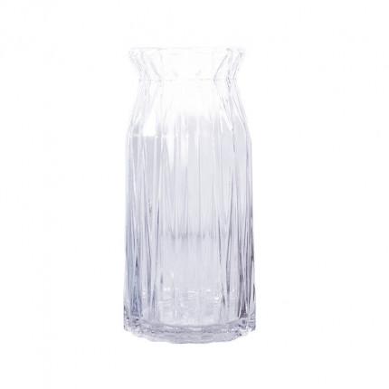 Ręcznie robiony szklany przezroczysty wazon MHD0-01-19