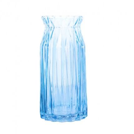 Ręcznie robiony szklany niebieski wazon MHD0-01-20