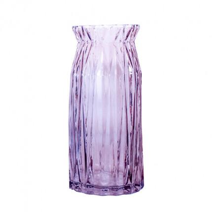 Ręcznie robiony szklany fioletowy wazon MHD0-01-21