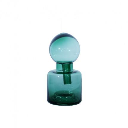 Ręcznie robiony zielony wazon ze szkła MHD0-01-27