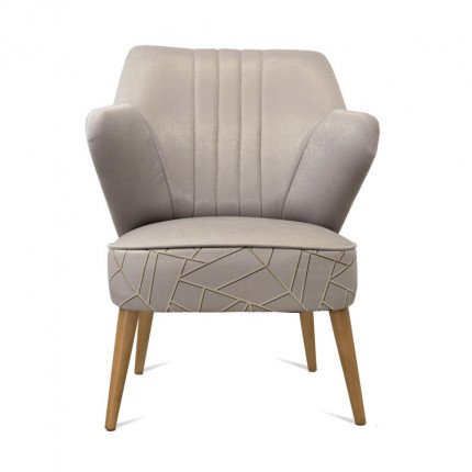 Fotel art deco beżowy MHT 176