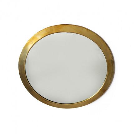 Okrągłe lustro w złotej ramie MHD0-07-04