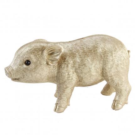 Duża złota świnka skarbonka MHD0-09-28