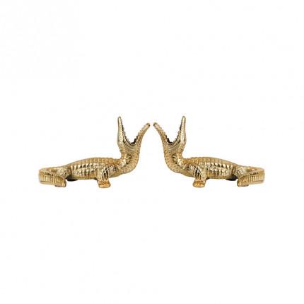Zestaw dwóch złotych świeczników KROKODYLE MHZ1-00-45