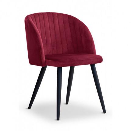 Krzesło glamour bordowe z metalowymi nóżkami MHK0-20