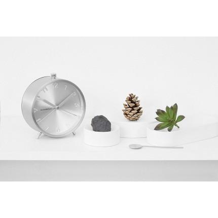 Srebrny zegar z budzikiem Cloudnola MHD0-08-21
