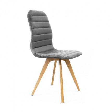 Krzesło tapicerowane z przeszyciami i wysokim oparciem MHK-71