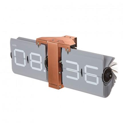 Zegar klapkowy szary Cloudnola MHD0-08-15