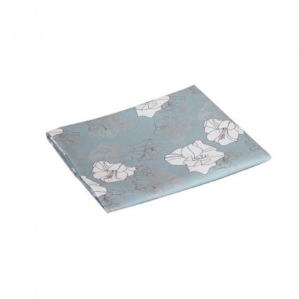 Bieżnik z motywem kwiatów eustomy błękitno-miętowy MHA0-03-26