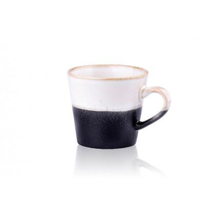 Kubek do cappuccino w stylu lat 70. czarno-biały HKliving ACE6752