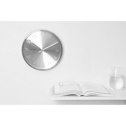 Zegar ścienny srebrny Cloudnola MHD0-08-11