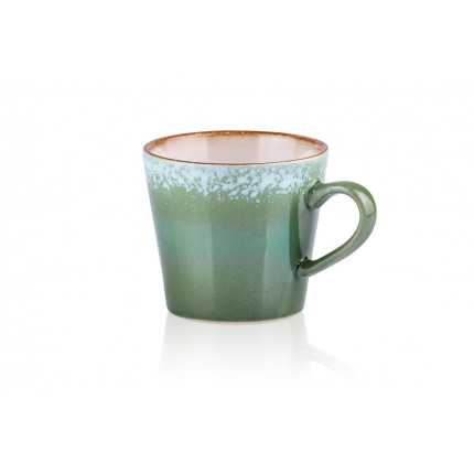 Kubek do cappuccino w stylu lat 70. zielony  HKliving ACE6752