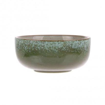 Zielona ceramiczna miska w stylu rustykalnym HKliving MHZ0-05-12