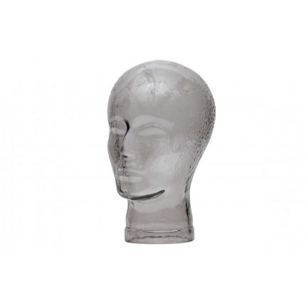 Dekoracja szklana ELVIS dymiony szary / 373806-S