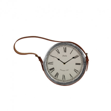 Zegar ścienny na skórzanym pasku MHD0-08-02