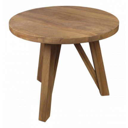 Mały stolik kawowy z drewna tekowego MHS2-21
