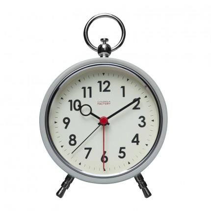 Biały zegar z budzikiem retro Cloudnola MHD0-08-22