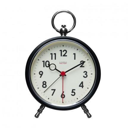 Czarny zegar z budzikiem retro Cloudnola MHD0-08-23