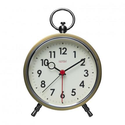 Złoty zegar z budzikiem retro Cloudnola MHD0-08-25
