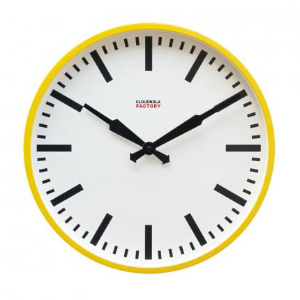 Żółty zegar ścienny fabryczny Cloudnola MHD0-08-26