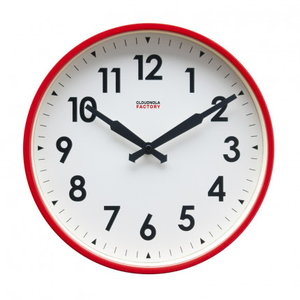 Czerwony zegar ścienny fabryczny Cloudnola MHD0-08-27