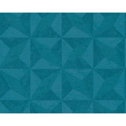 Tapeta turkusowe trójkąty MHT0-50
