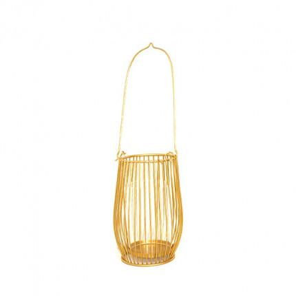 Złoty świecznik niska latarenka MHD0-05-03