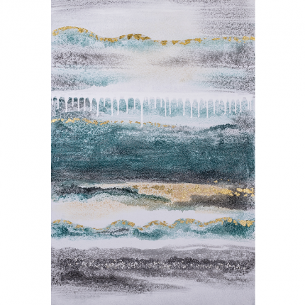 Ręcznie malowany obraz na płótnie –  Abstrakcja turkusowa MHD0-10-36