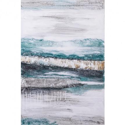 Ręcznie malowany obraz na płótnie –  Morskie fale MHD0-10-37