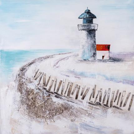 Ręcznie malowany obraz na płótnie –  Latarnia morska MHD0-10-38