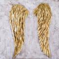 Ręcznie malowany obraz na płótnie –  Złote skrzydła anioła MHD0-10-39