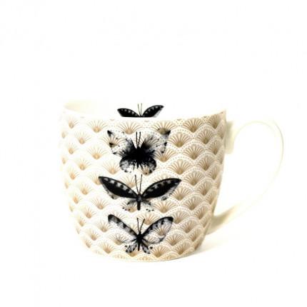 Szeroki kubek z motywem motyli MHZ0-03-03