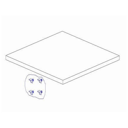 Dodatkowa półka do szafy 1-drzwiowej Marsylia PINIO MHP1-14